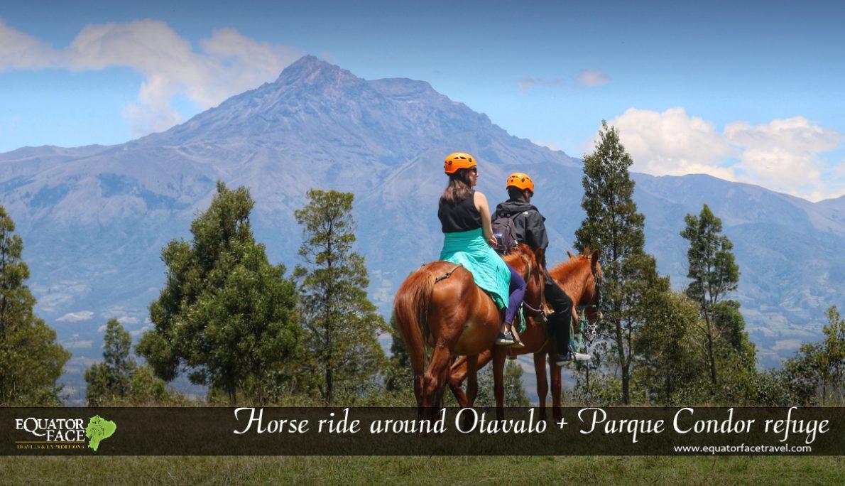 Montar a caballo por las comunidades de Otavalo.