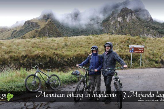 Guided mountain bike trip  Mojanda lagoons