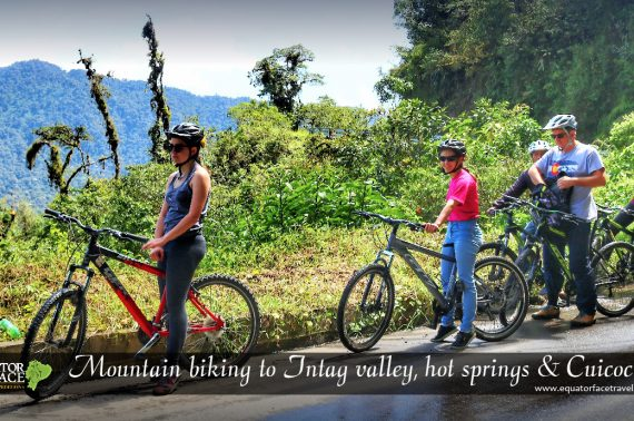 CUICOCHA TO THE VALLEY OF INTAG ON THE MOUNTAIN BICYCLES